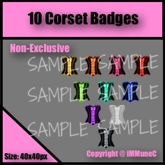 10 Corset Badges