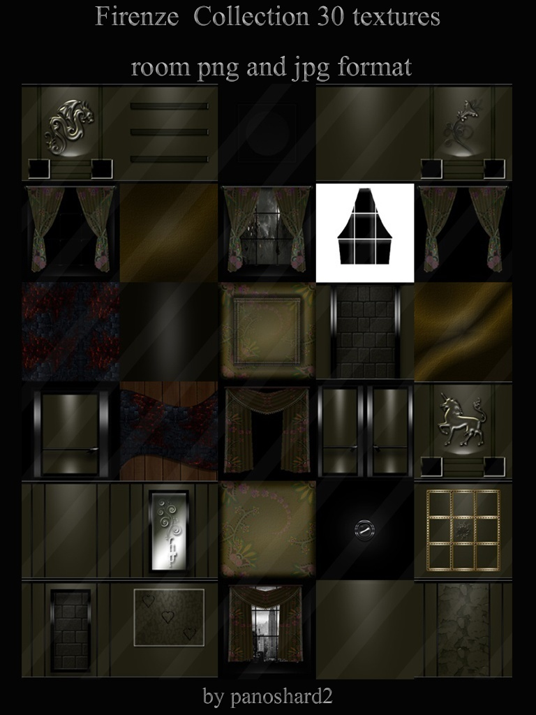 Firenze Collection 30 textures for imvu room png and jpg format
