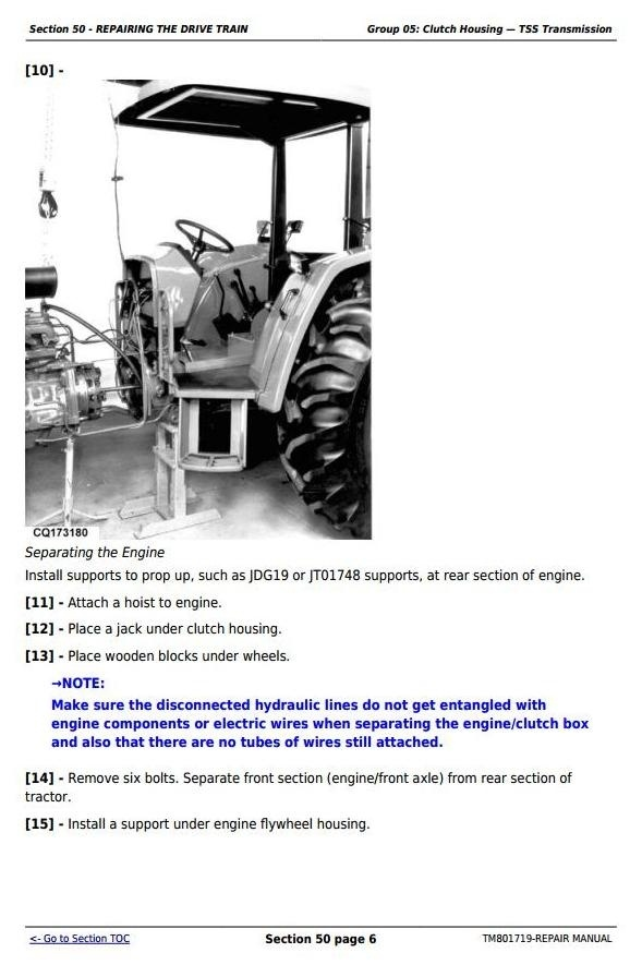 John Deere 5055E, 5065E, 5075E, 5078E, 5085E & 5090E South America Tractors Repair Manual (TM801719)