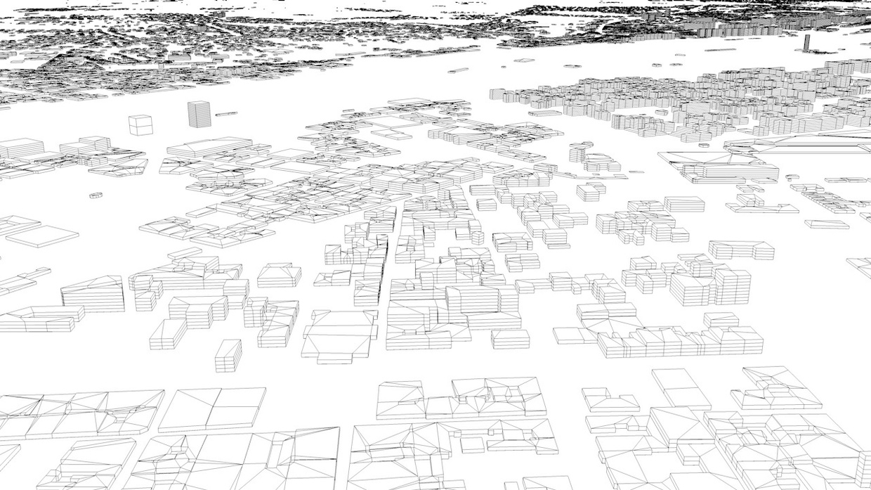 Budapest Streets and Buildings Architectural 3D Model