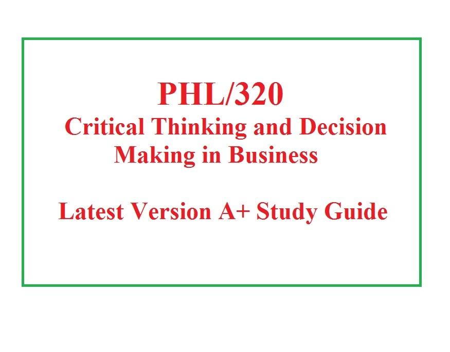 phl 320 week 4