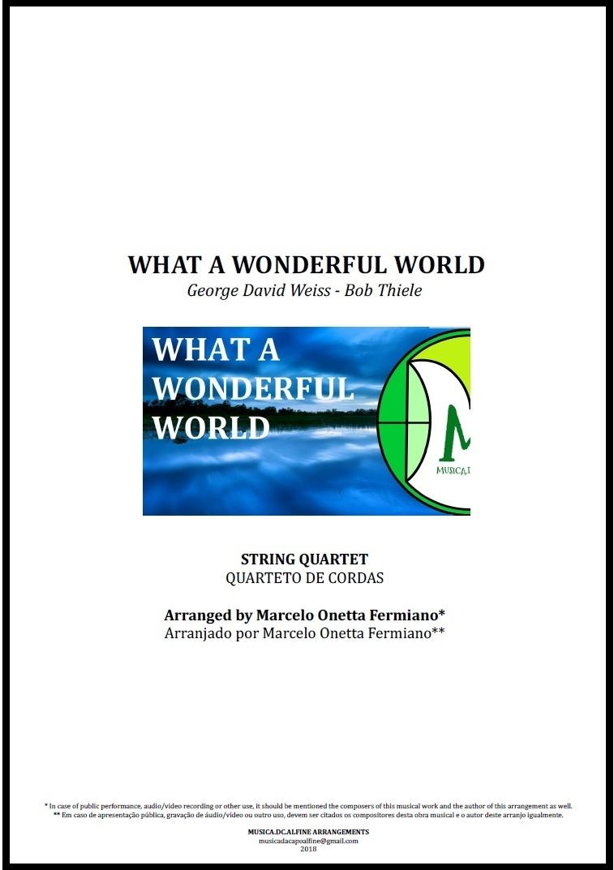 What a Wonderful World | Louis Armstrong | Quarteto de Cordas | Partitura Completa