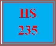 HS 235 Week 3 General Types of Public Assistance Programs