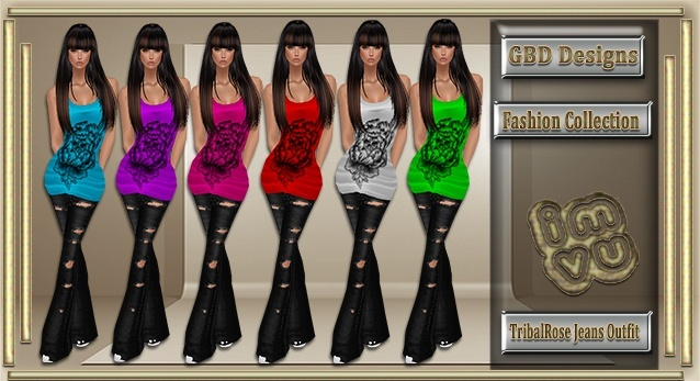 Tribal Rose Jeans Outfit CATALOG ONLY!!