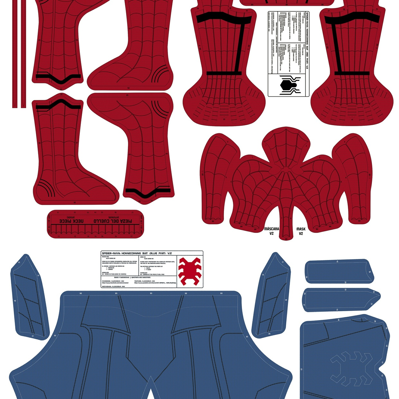 AlexCerva's SM: Homecoming v2 Dye-Sub Pattern (No Shade)