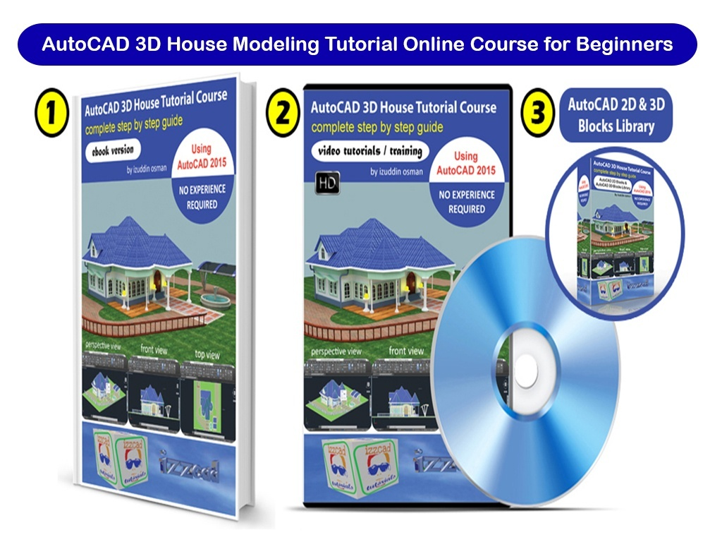 Autocad 3d House Modeling Tutorial Beginner Course Usi