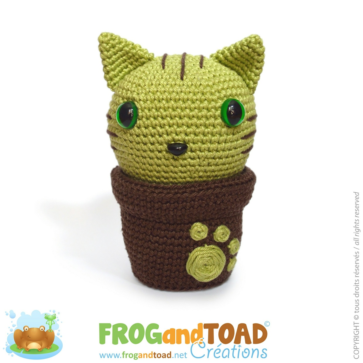 Minty Kitty Cactus - FROGandTOAD Créations ©