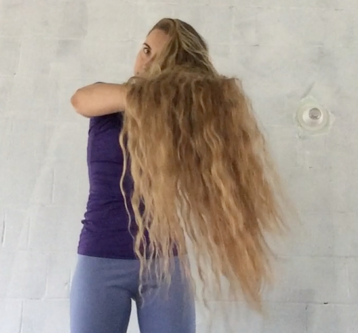 FREE VIDEO - Knee length braid waves