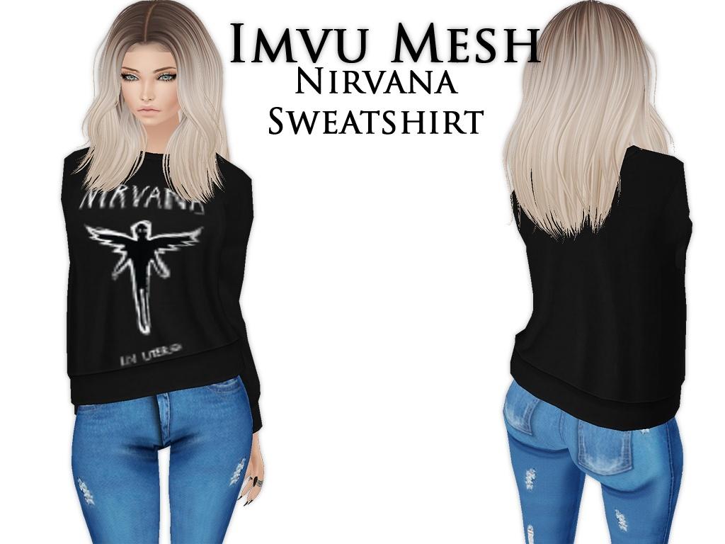 IMVU Mesh - Tops - Nirvana Sweatshirt