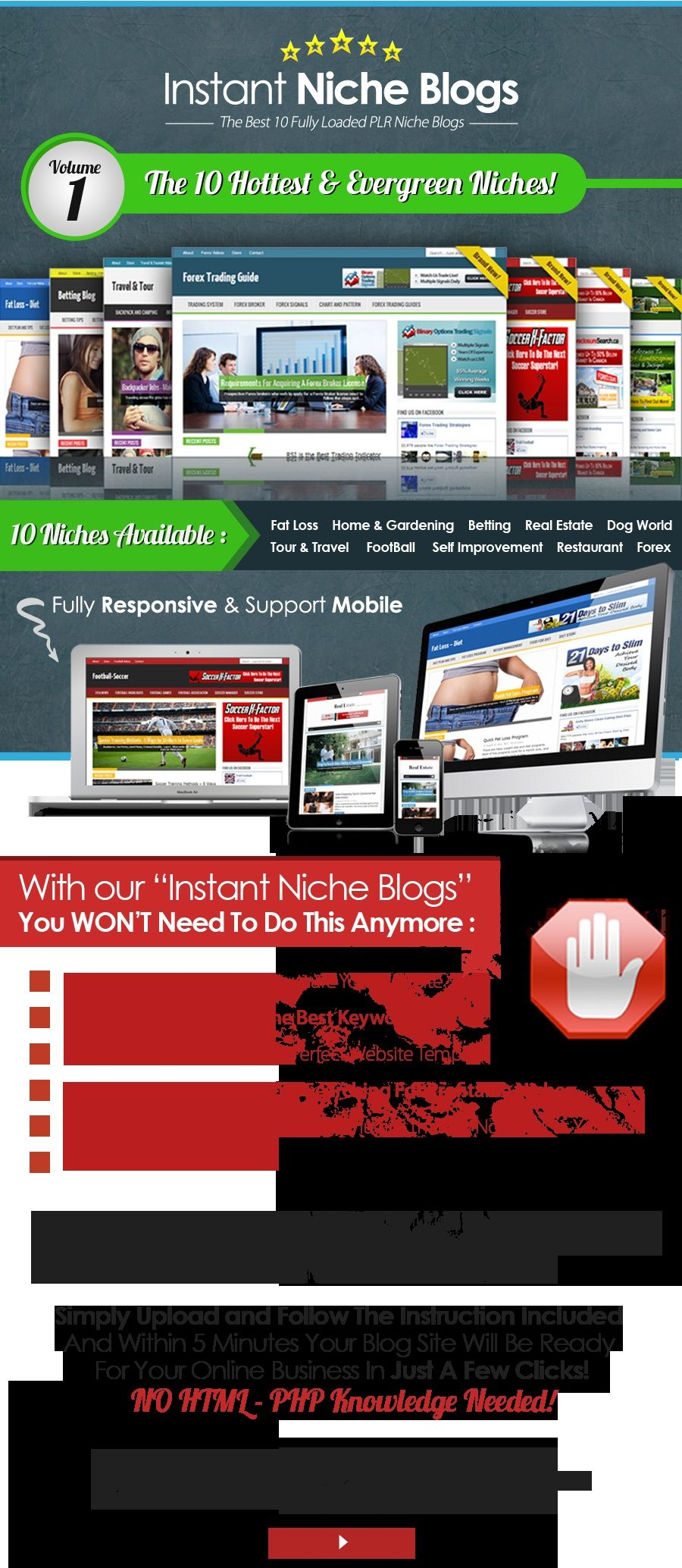 WordPress /  Instant Niche Blogs V1