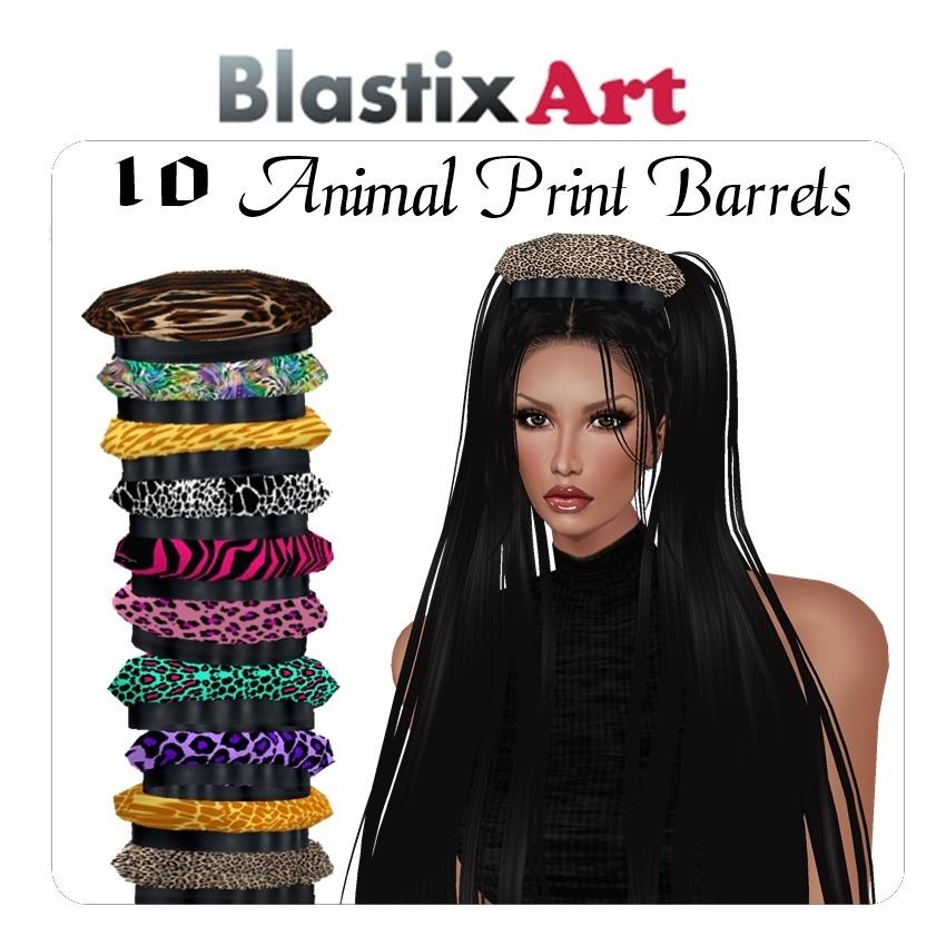 10-Animal Prints Barrets