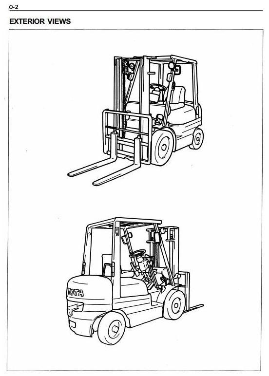 Toyota Truck 6FDA15, 6FDA18, 6FDA20, 6FDA25, 6FDA30, 6FDN20, 6FDN25, 6FDN30 Service Manual