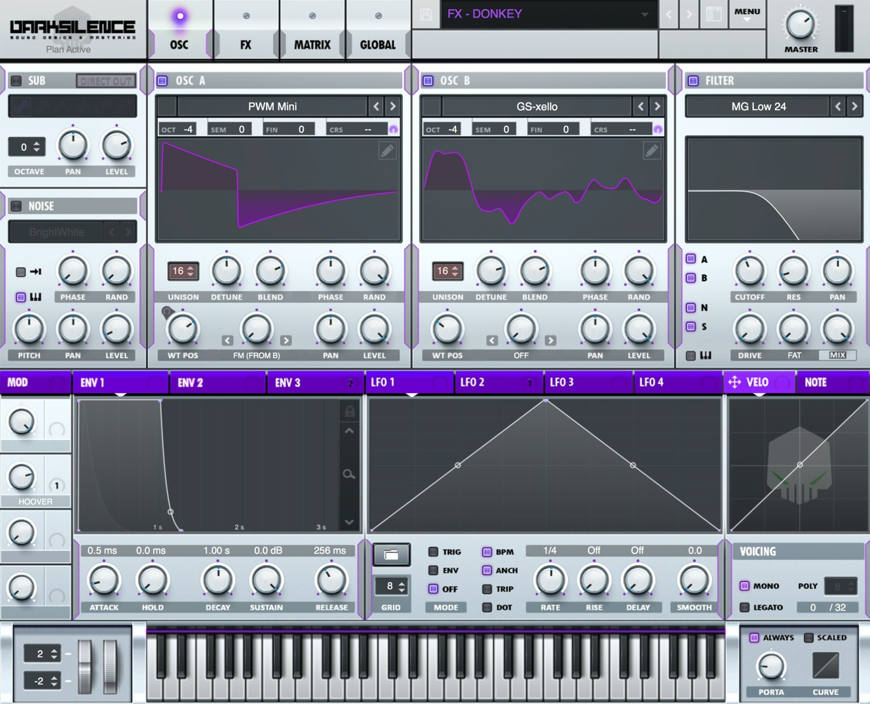 Dark Silence Sound Design ALPHA V1 PURPLE XFER SERUM SKIN