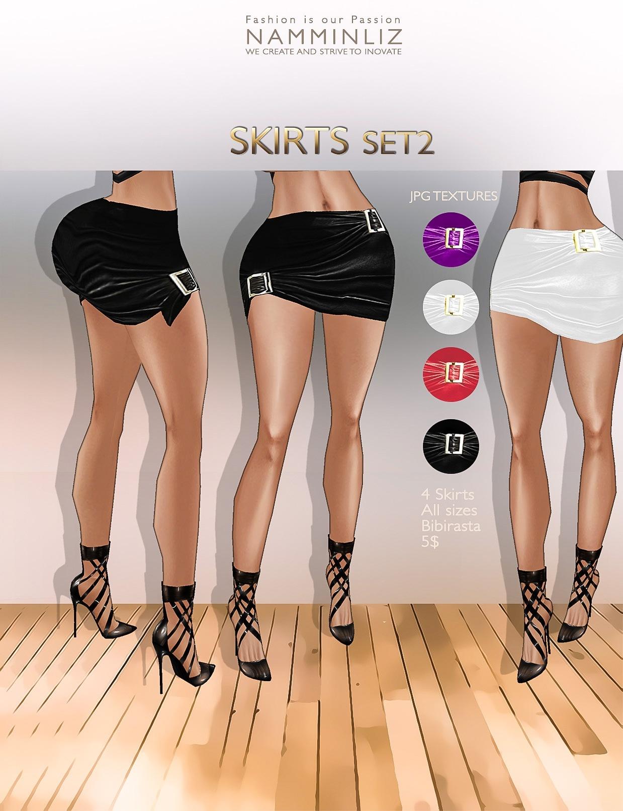 Skirts Set2 ( 4 colors imvu textures Bibirasta )