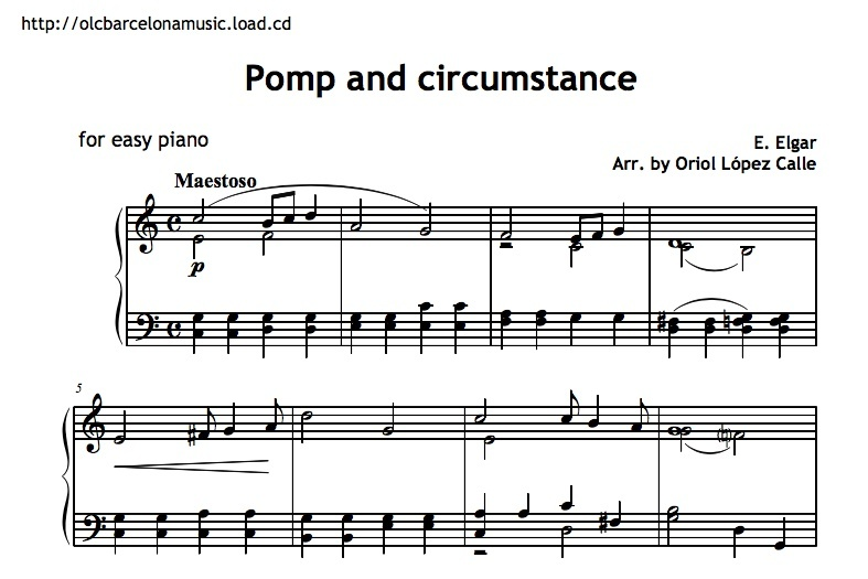 Pomp and circumstance sheet music pdf for Pomp and circumstance