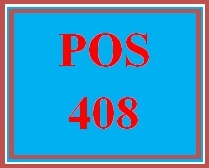 POS 408 Week 5 Individual: Research