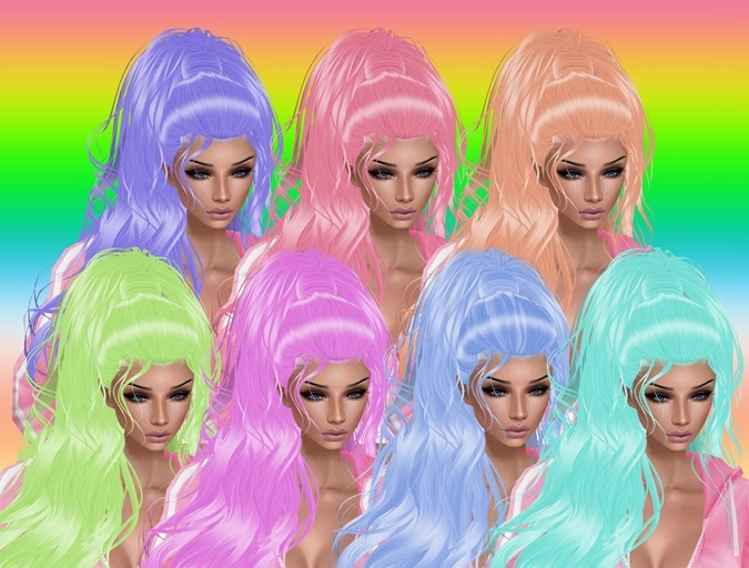 Pastel Hair Textures IMVU