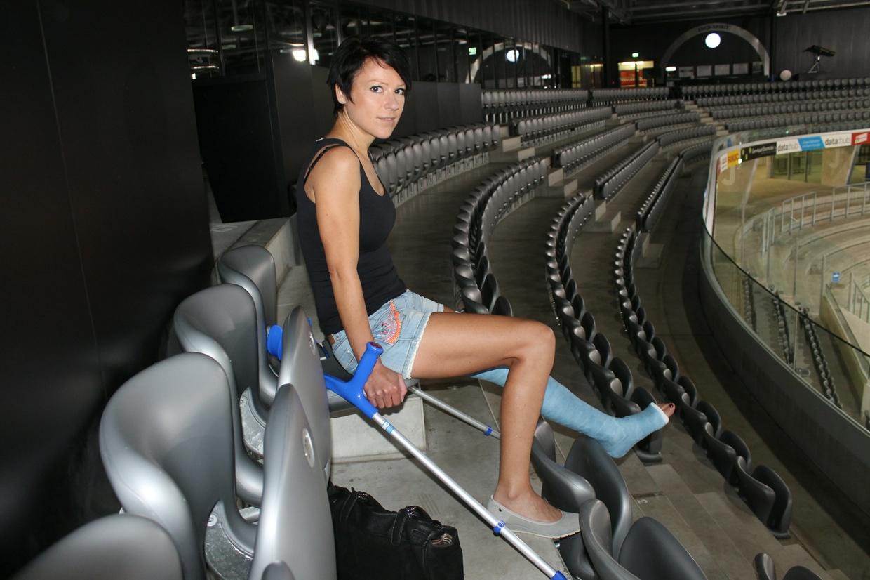 Samantha im Stadion