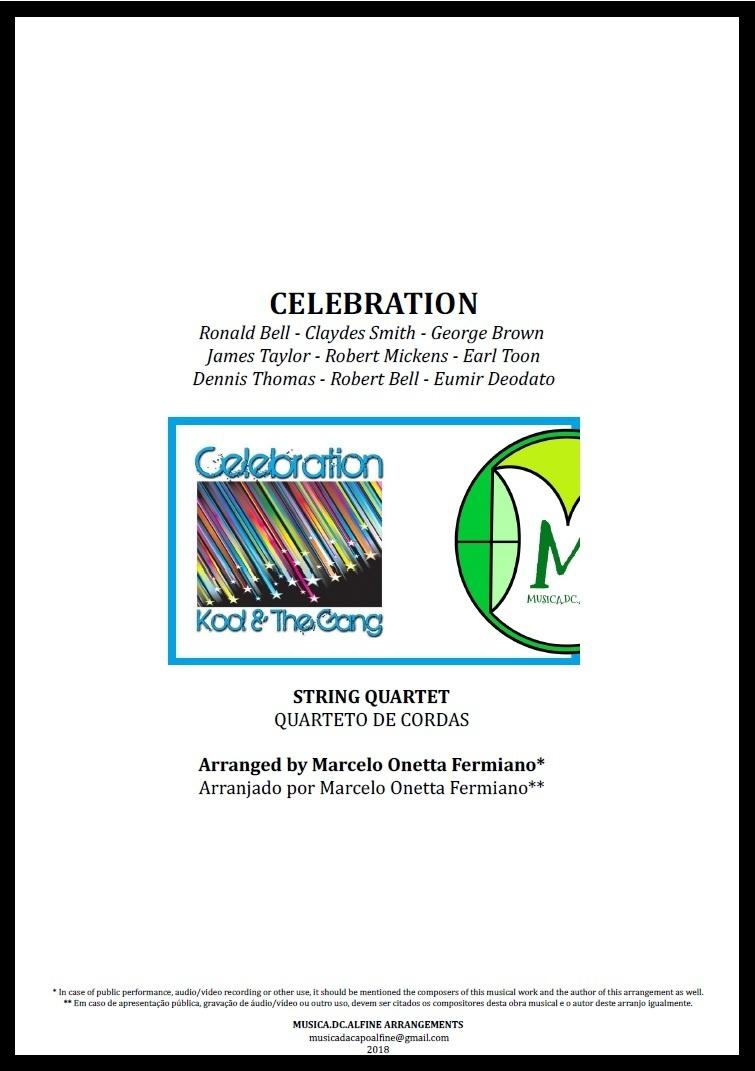 Celebration | Kool and The Gang | Quarteto de Cordas | Partitura Completa Download