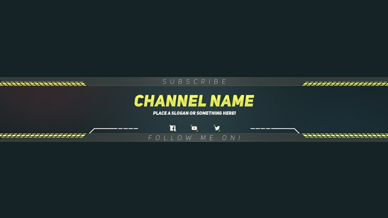 youtube channel art banner template psd download tech onn