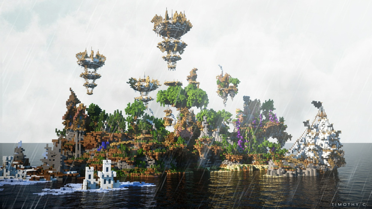 Minecraft Spawn / SG games map - The Island of Dr Moreau