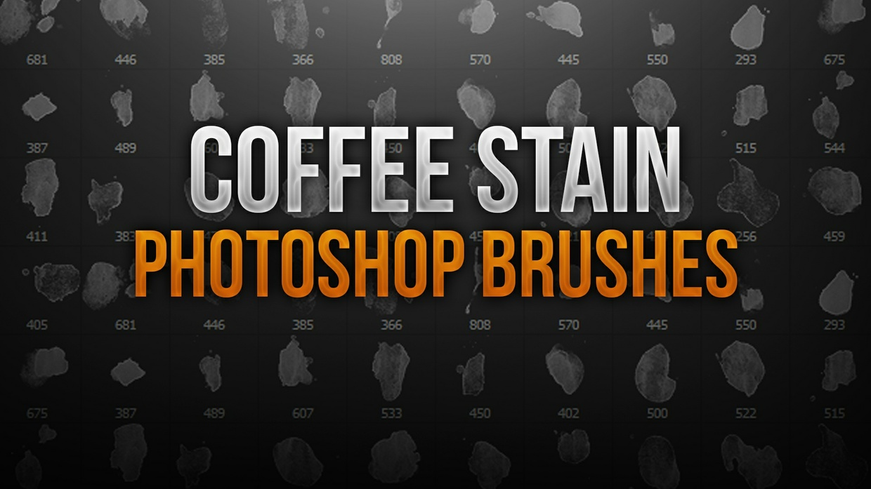 Coffee Stain Photoshop Brush Pack