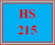 HS 215 Week 5 Goals Focus and Success Plan