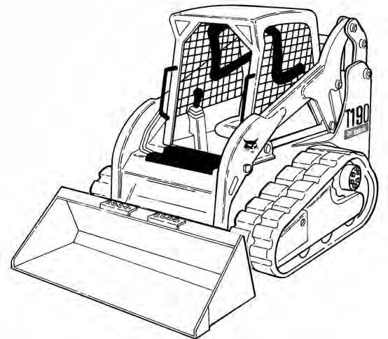 Bobcat T190 Track Loader Service Repair Manual Download(S/N 531611001 - 531659999...)