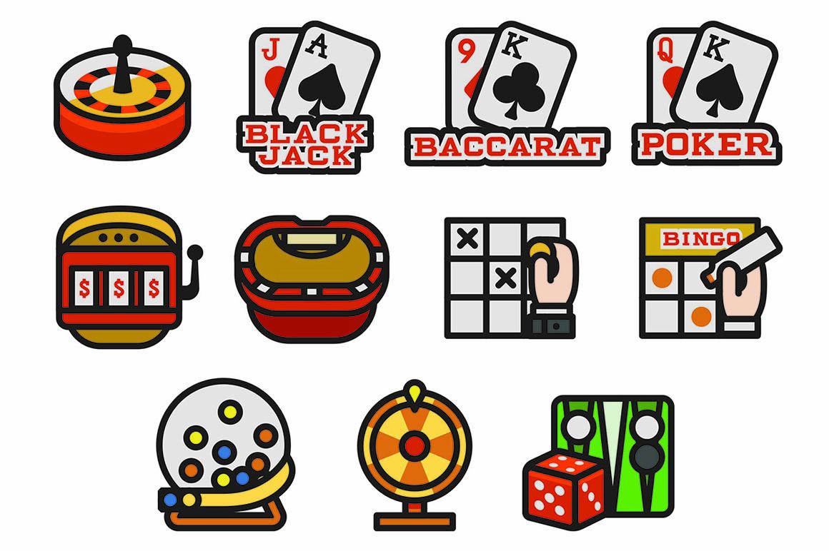 76 Casino Icons
