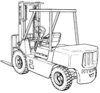 Hyster Forklift F006 Series: H6.00XL (H135XL; H135XL2), H7.00XL (H155XL; H155XL2) Service Manual