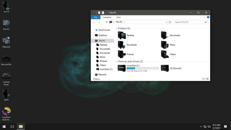 HUD Machine Slate Blue IconPack