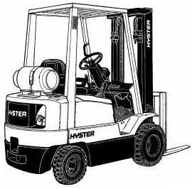 Hyster Diesel/LPG Forklift Truck D001 Series: H1.50XM, H1.75XM, H2.00XMS Workshop Service Manual