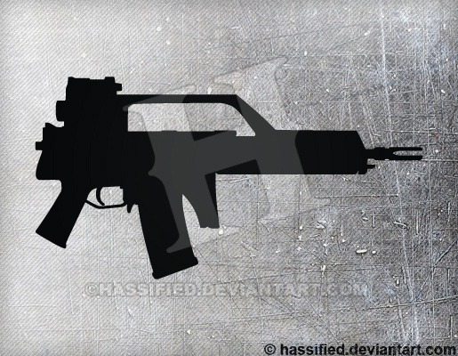 HK G36K - printable, vector, svg, art