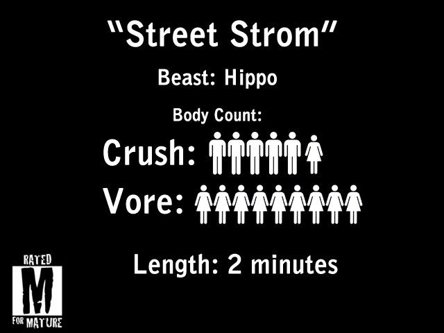 """Street Storm"" HD Vore/Crush Scenes"
