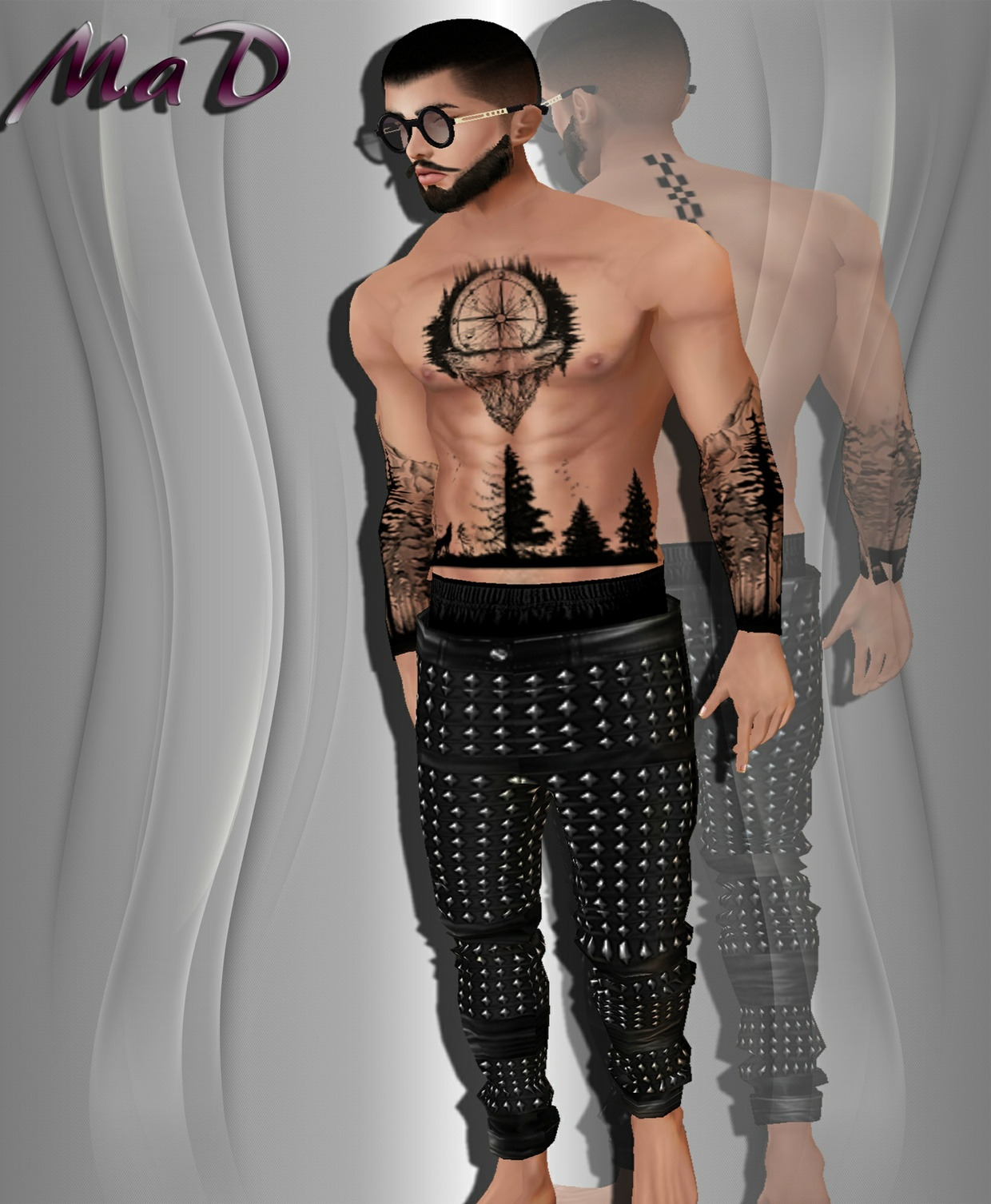 MaD MD Spike bottoms + Top Tattoo body CATTY ONLY