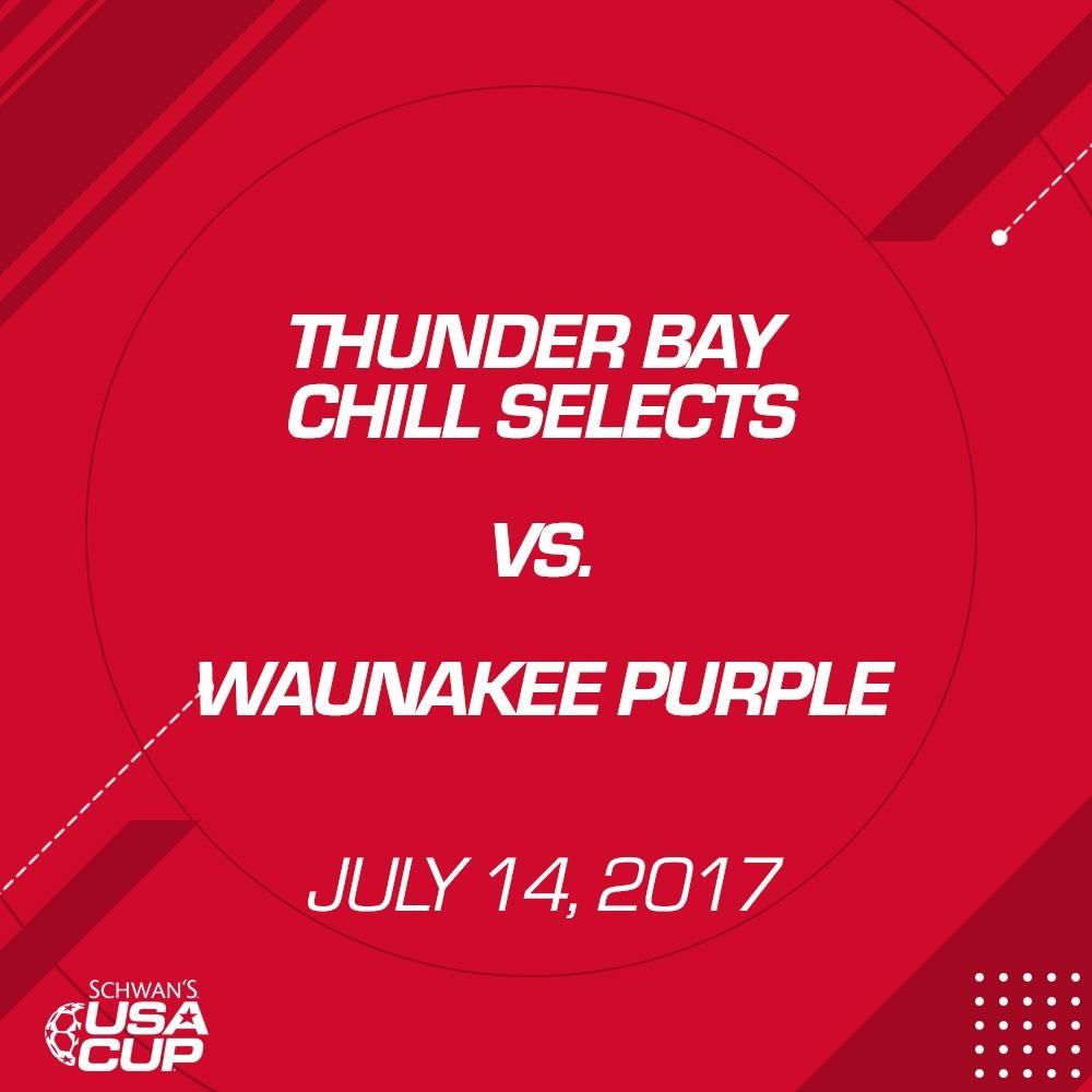 Girls U15 - July 14, 2017 - Thunder Bay Chill Selects vs Waunakee Purple