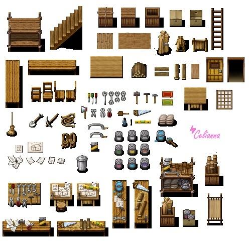 """Celianna's Parallax Tiles """"Carpentry Tiles"""""""