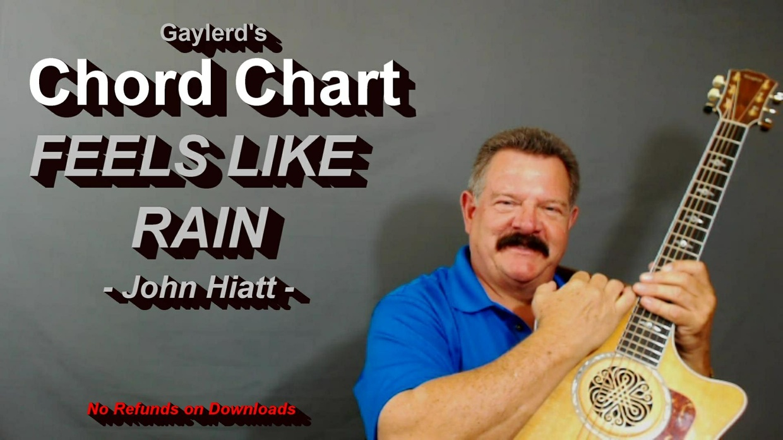 Feels Like Rain - John Hiatt     CHORD CHART