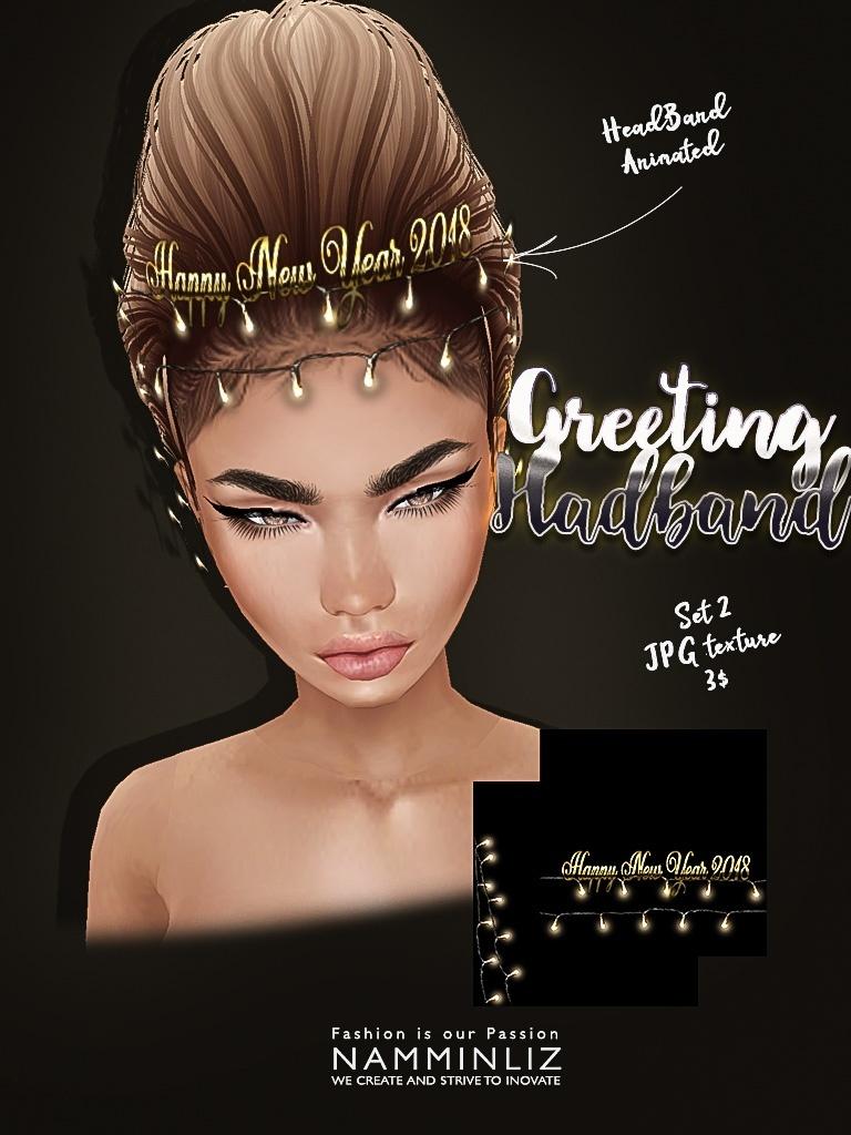 Greeting headband Full set imvu texture JPG NAMMINLIZ filesale