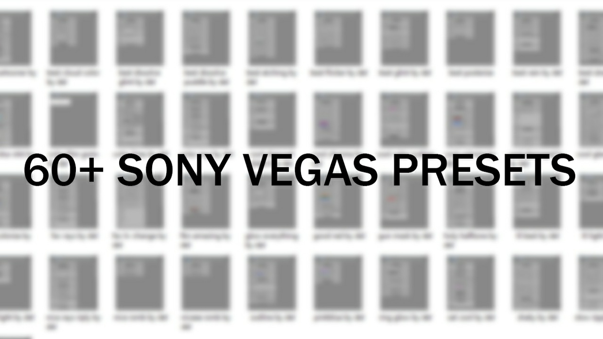 Sony Vegas Presets Pack