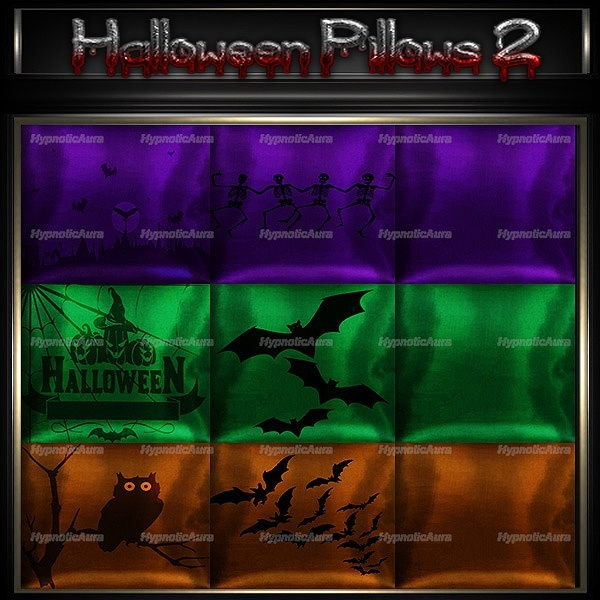 A~OFFER-HALLOWEEN PILLOWS 1&2 60 TEXTURES