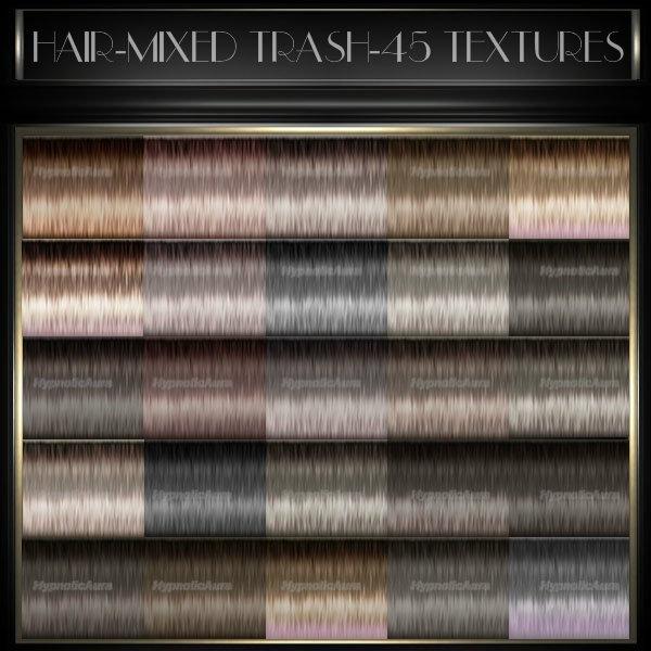 A~HAIR-MIXED TRASH COLORS-45TEXTURES&10 BABYHAIR COLORS