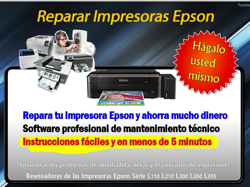 Reseteadores Epson Serie L110 L210 L300 L350 L355