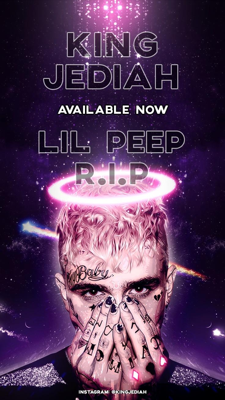 "R.I.P Lil Peep ""Gothic Angel"" Phone Wallpaper"