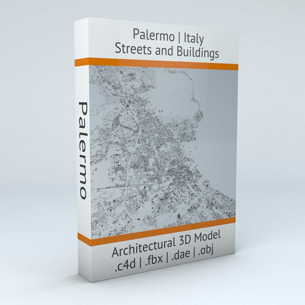 Palermo Streets and Buildings Architectural 3D Model