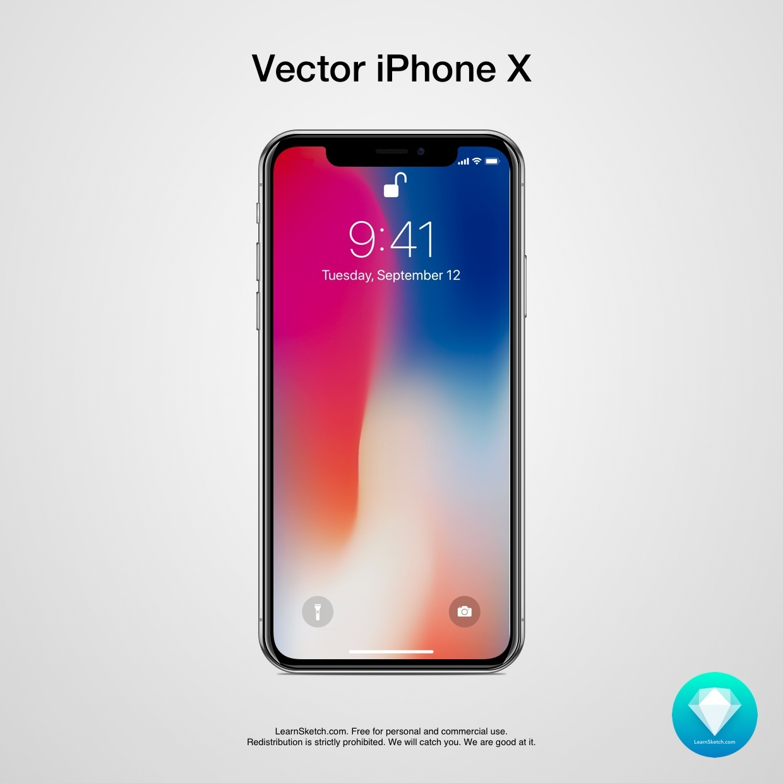 Vector iPhone X