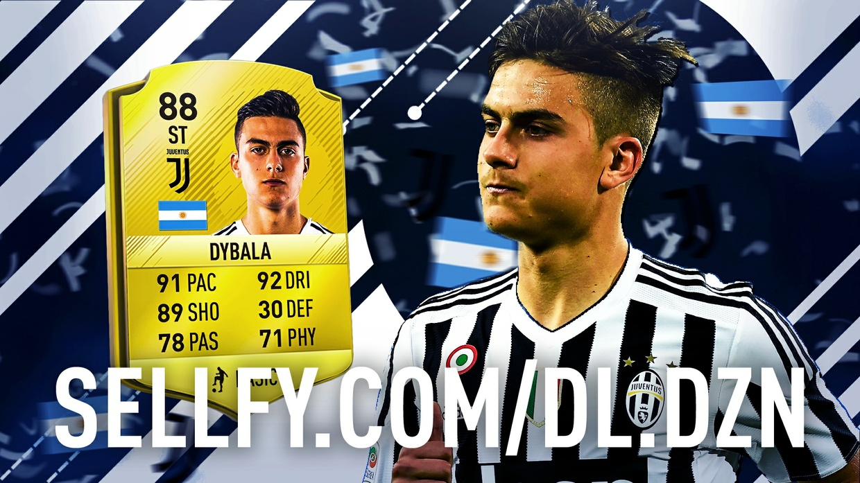 Dybala FIFA 18 Thumbnail Fully editable (PSD)