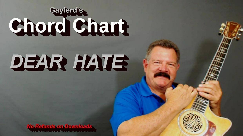 DEAR HATE by Maren Morris - The CHORD CHART