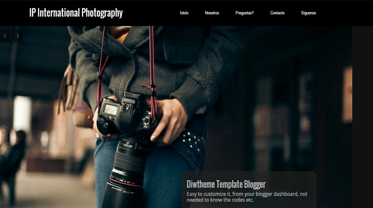 IP International Photography Template Blogger