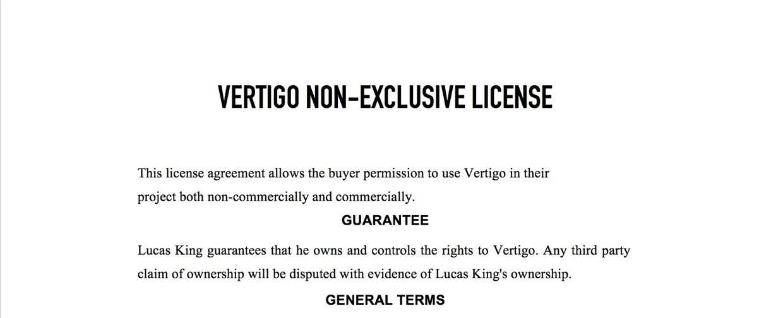 Dark Piano - Vertigo License
